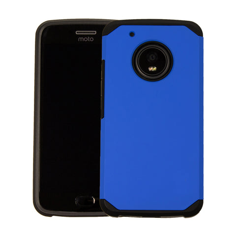 Orzly Duo-Armour BLUE Slim-Fit Dual Layer Protective Case For Moto G5