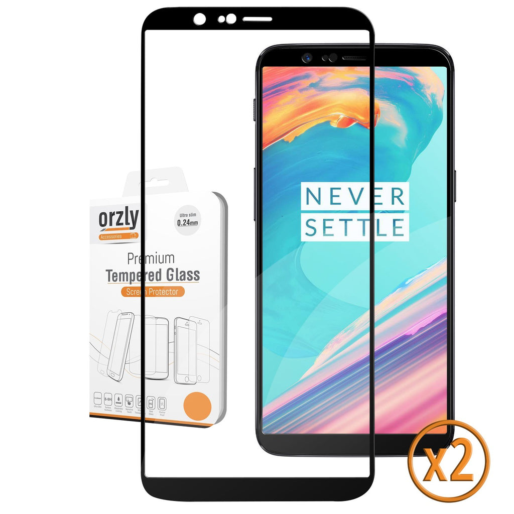 OnePlus 5T Pro-Fit Tempered Glass Screen Protector - TWIN PACK - Orzly