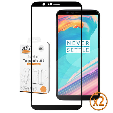 OnePlus 5T Pro-Fit Tempered Glass Screen Protector - TWIN PACK