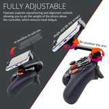 Stadia Geek Pack: Phone Mount Clips x2, Duo-Charge Dock, Travel Bag, & Charging Cable - Orzly