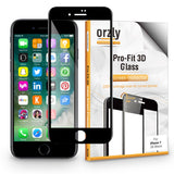 Orzly Pro-Fit 3D Glass Screen Protector for iPhone 7 (ONLY)