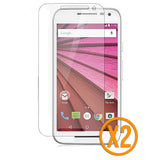 Tempered Glass Screen Protector for Motorola Moto G3 - TWIN PACK - Orzly