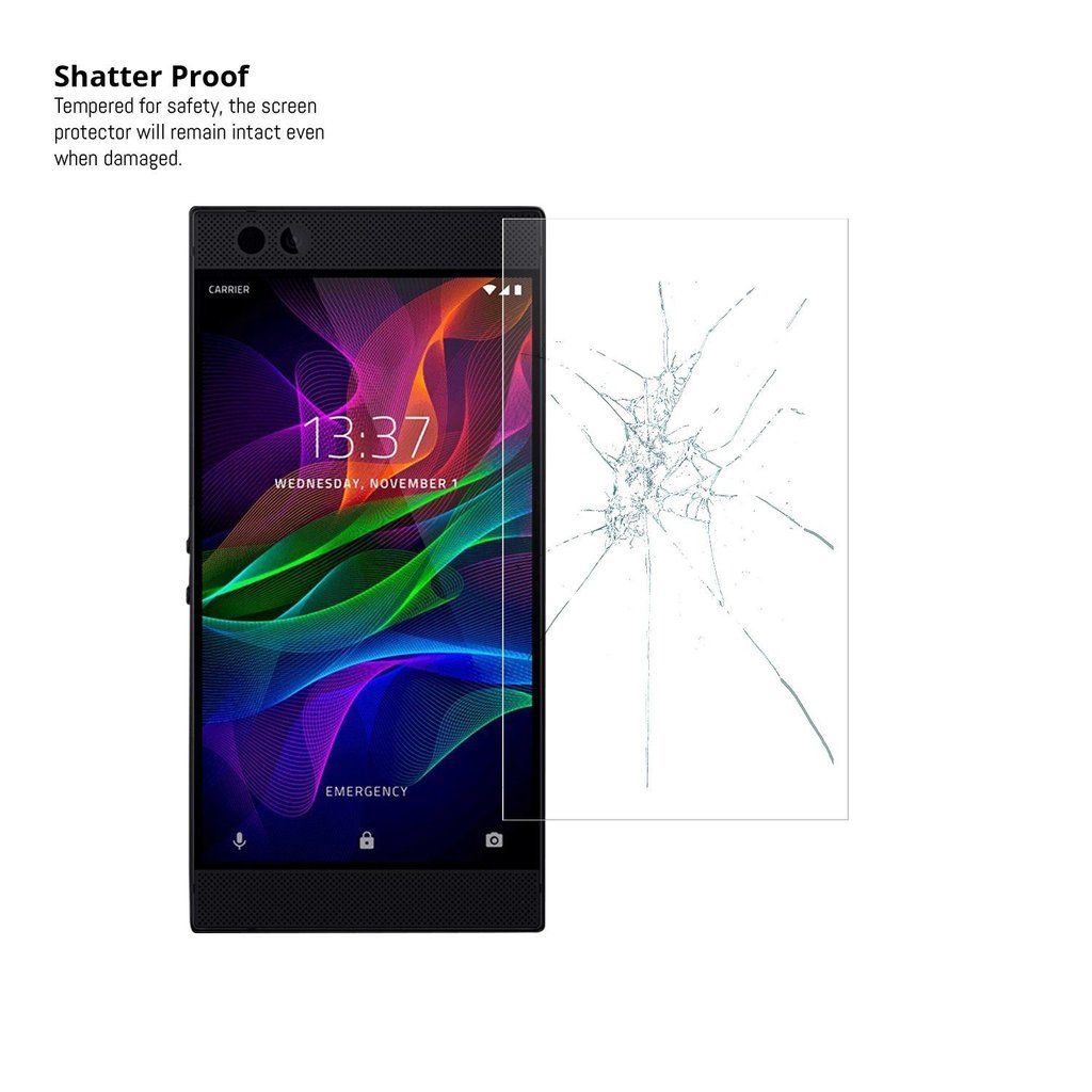 Tempered Glass Screen Protector for Razer Phone - QUAD PACK - Orzly