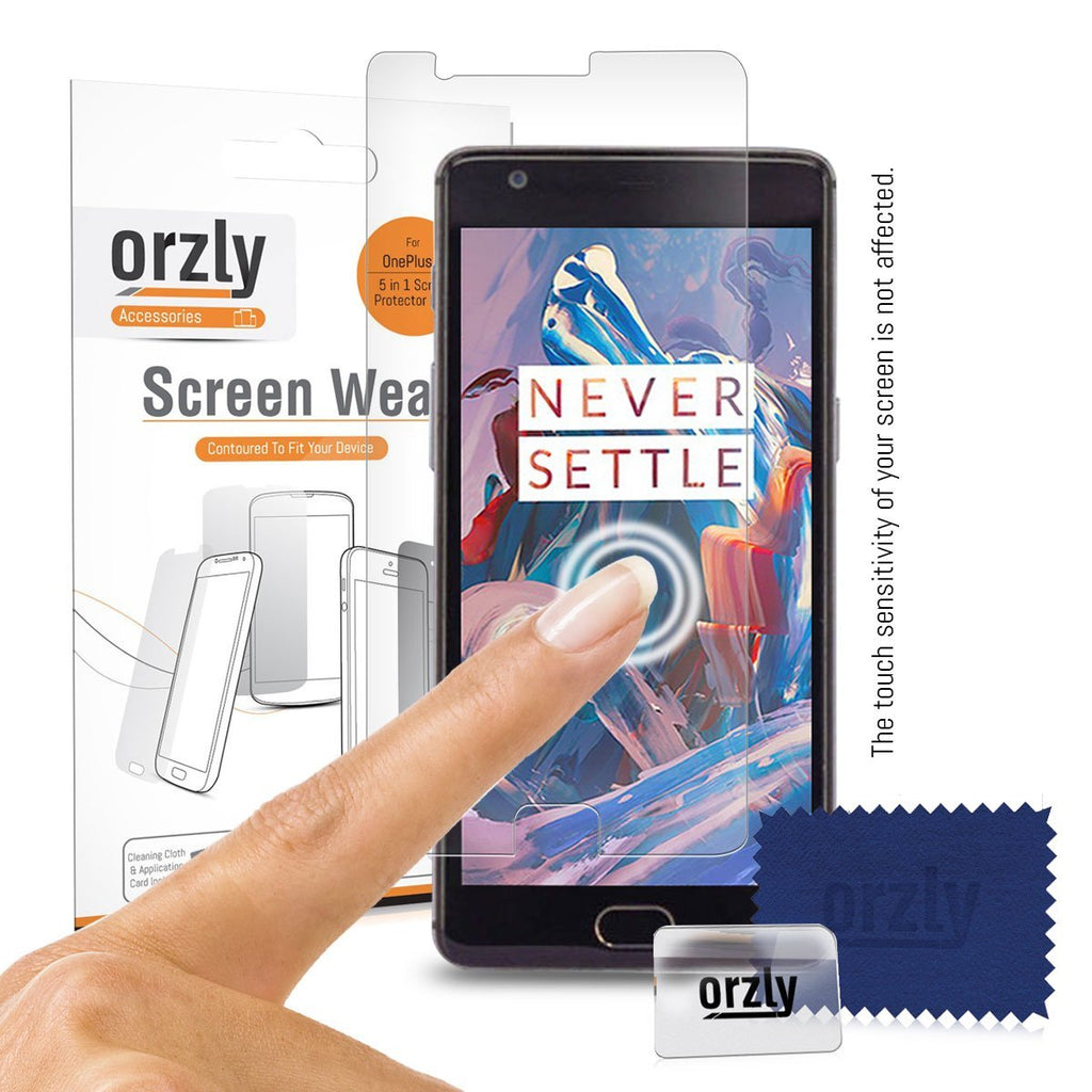 Screen Wear for OnePlus 3 / 3T - 5 in 1 Pack - Orzly