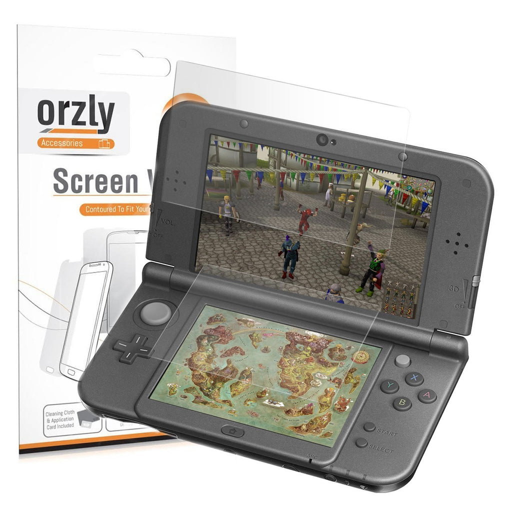 Dual Screen Protector Pack for Nintendo 3DS XL / New 3DS XL - 3 in 1 Pack - Orzly