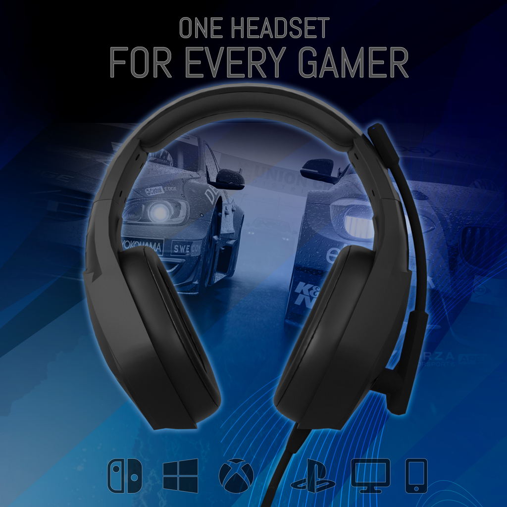 Orzly Gaming Headset for PC and Gaming Consoles PS5, PS4, XBOX SERIES X & S, XBOX ONE, Nintendo Switch & Google Stadia Stereo sound with noise cancelling mic - Hornet RXH-20 Abyss - Orzly