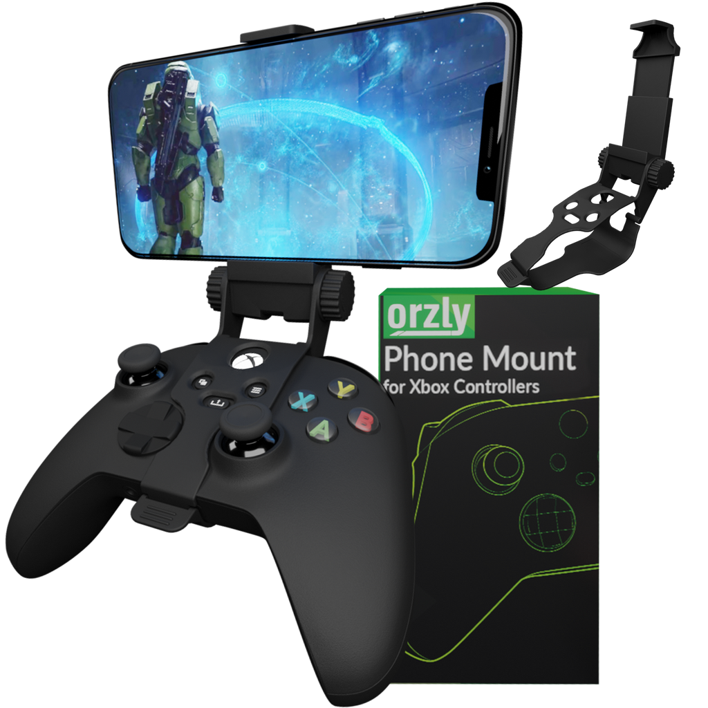 Xbox Series X Controller Mobile Gaming Clip, Xbox Controller Phone Mount Adjustable Phone Holder Clamp Compatible with Xbox Series X|S, Xbox One, Xbox One S, Xbox One X - Orzly