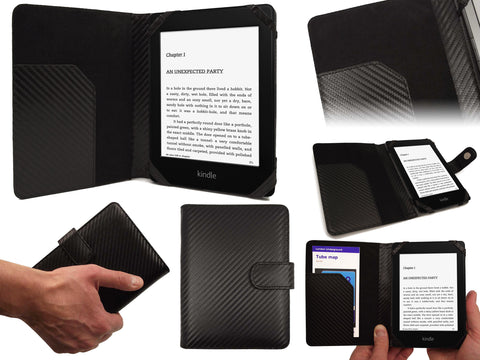 Book Case for Amazon Kindle - Carbon Edition