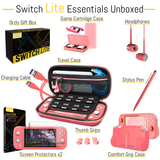 Essential Pack for Nintendo Switch Lite - Coral - Orzly