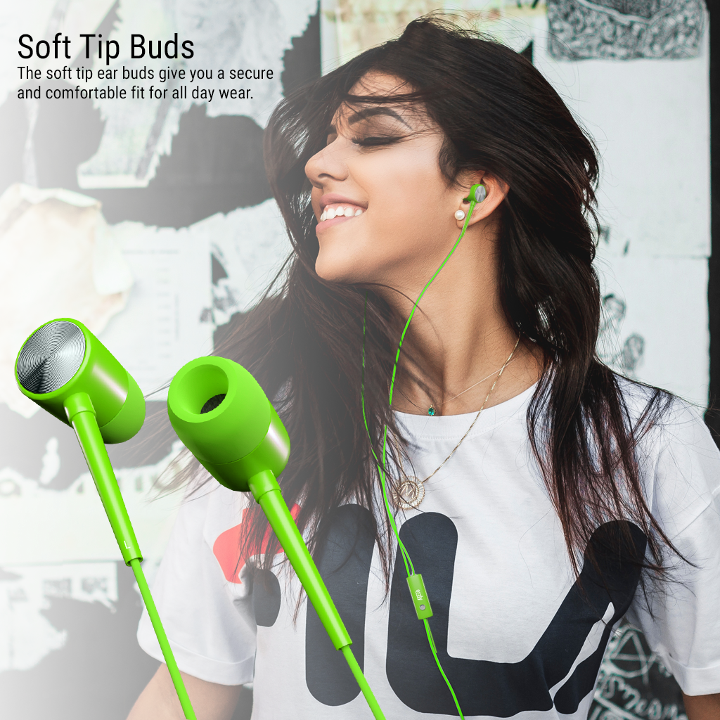 Stereo Earbuds with in-line Microphone - Orzly