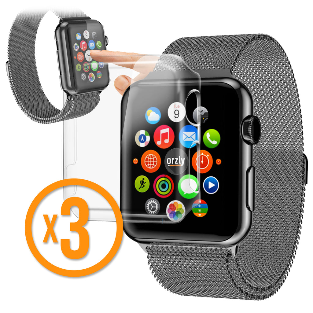 InvisiCase for Apple Watch Series 1 - 3 in 1 Pack - Orzly