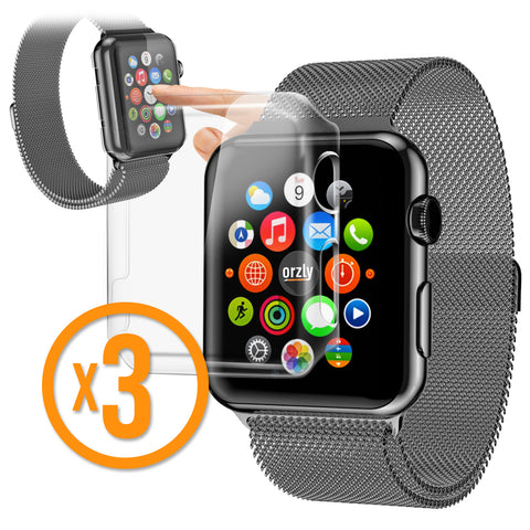 InvisiCase for Apple Watch Series 1 - 3 in 1 Pack