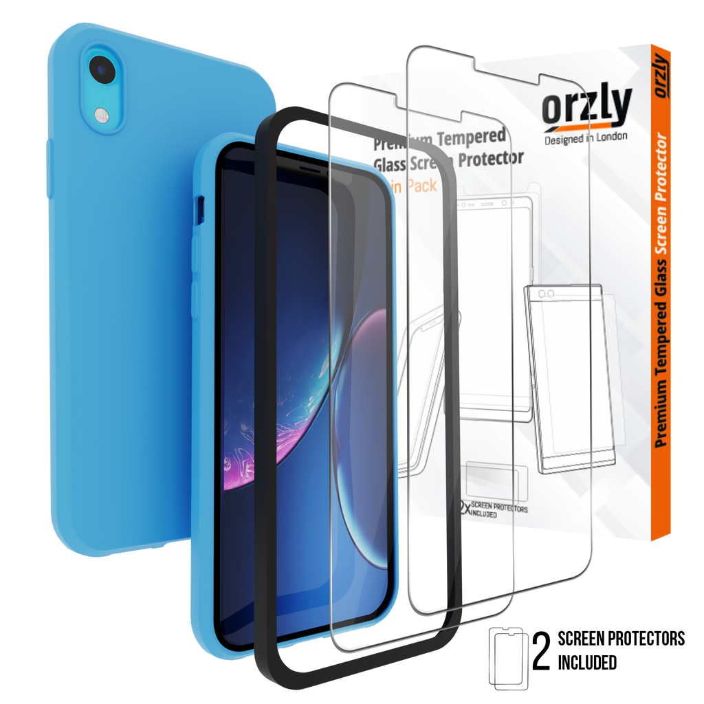 iPhone Xr Screen Protector & Case Pack - Orzly
