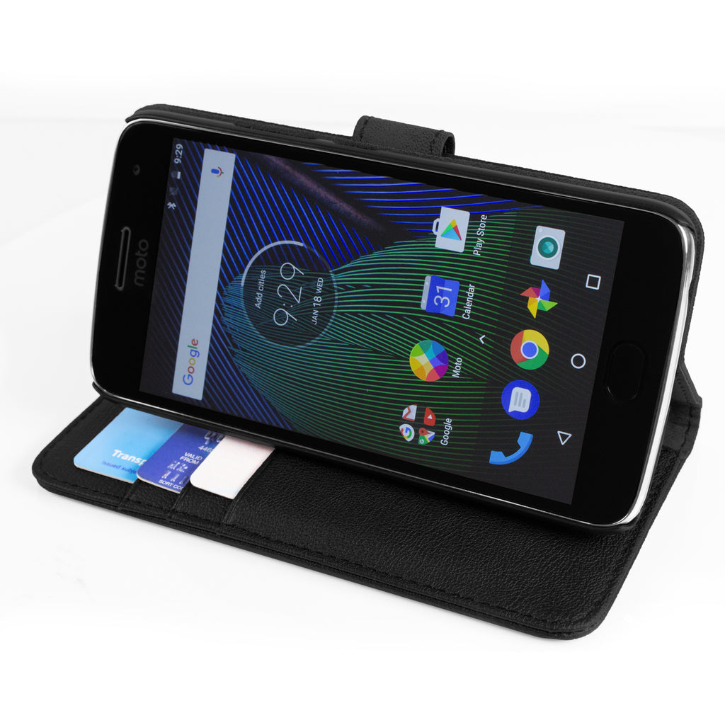 Multifunctional Wallet Case for Moto G5 - Orzly