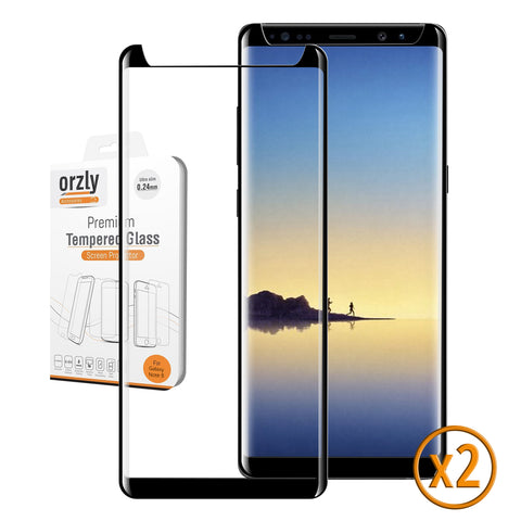 Pro-Fit 3D Glass Screen Protector for Samsung Galaxy Note 8 - Twin Pack