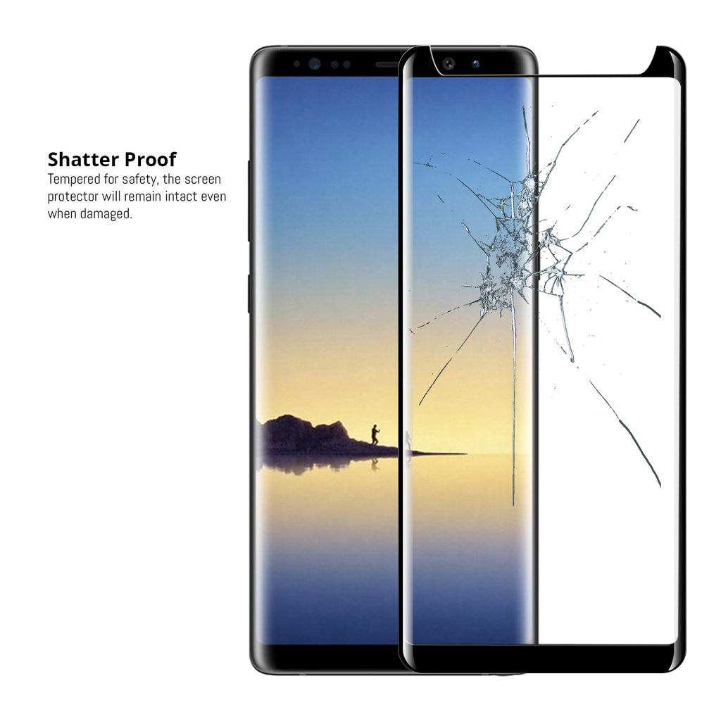 Pro-Fit 3D Glass Screen Protector for Samsung Galaxy Note 8 - Twin Pack - Orzly