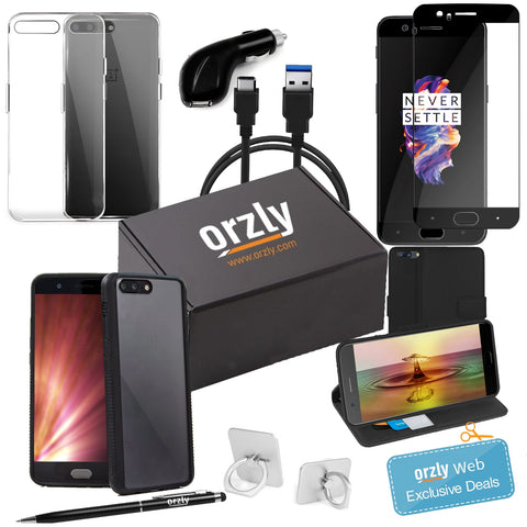 OnePlus 5 Orzly Case and Accessory Bundle Pack - Orzly