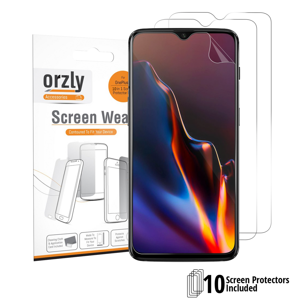Screen Protector for OnePlus 6T - 10 in 1 Pack - Orzly
