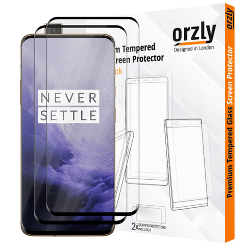 Pro-Fit Tempered Glass Screen Protector For OnePlus 7 Pro - Orzly