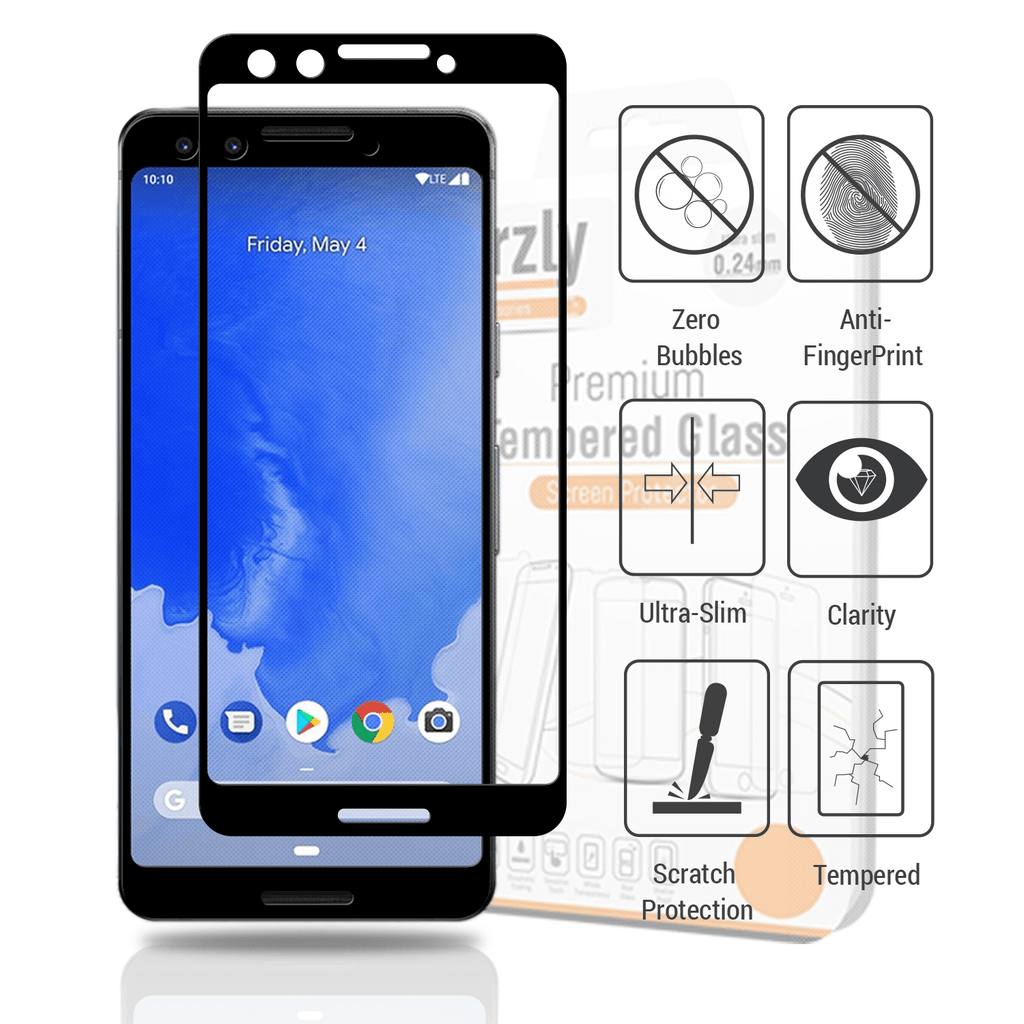 Google Pixel 3 Screen & Case Pack - Orzly