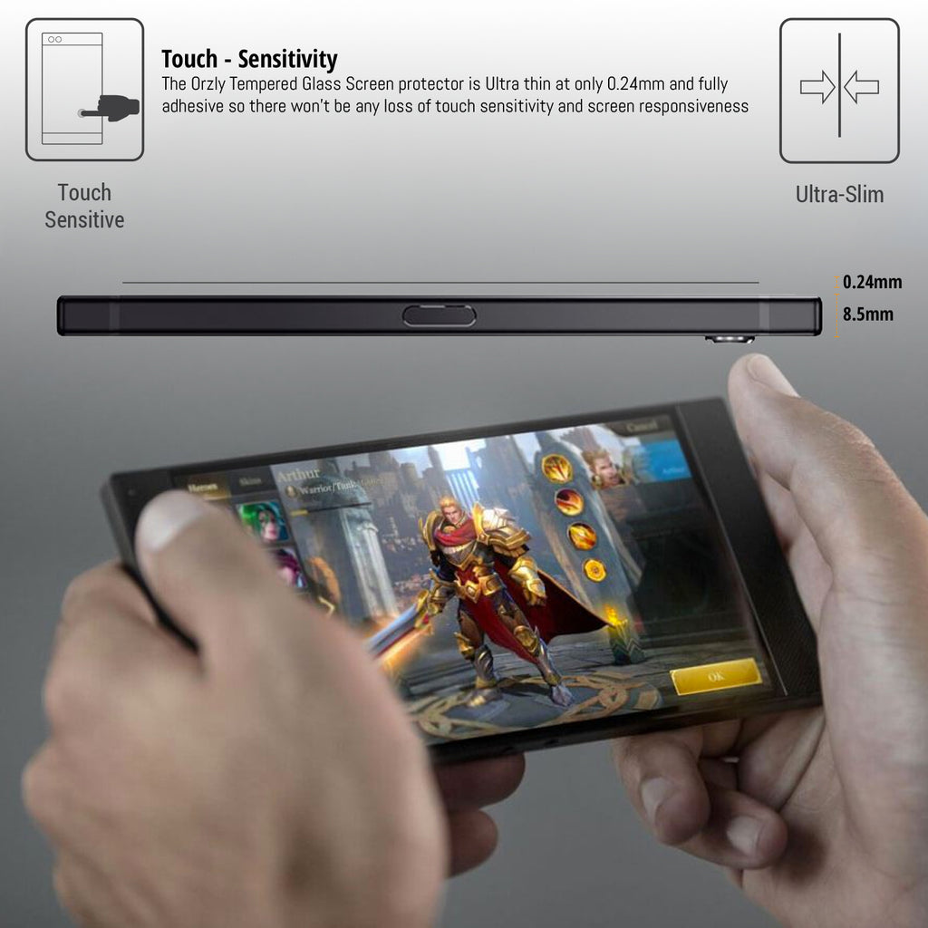 Razer Phone 2 Tempered Glass Screen Protector - Orzly