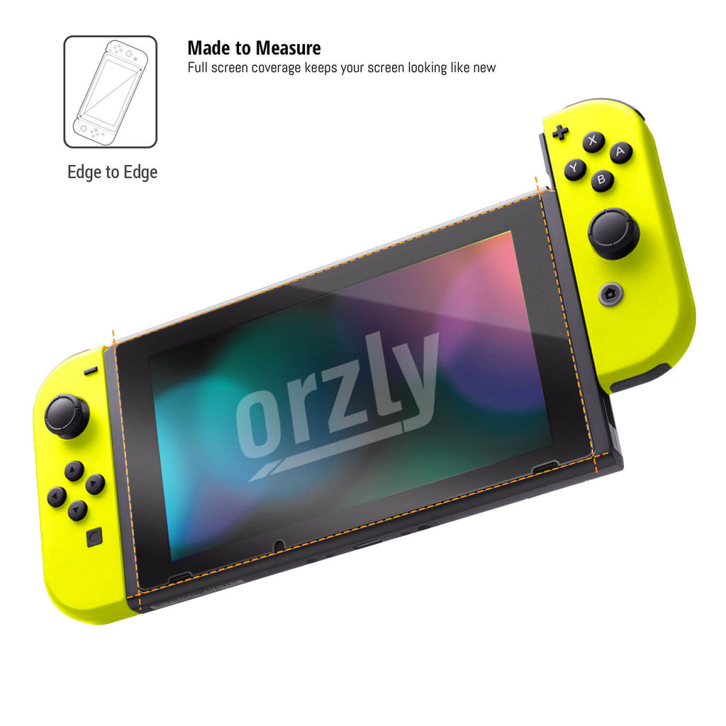 Orzly Premium Tempered Glass Screen Protector for Nintendo Switch - Orzly