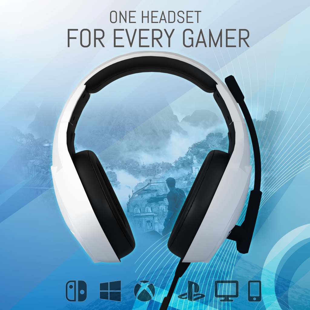 Orzly Gaming Headset for PC and Gaming Consoles: PLAYSTATION 5, PS4, Xbox Series X & S, Xbox One, Nintendo Switch & Google Stadia Stereo sound with noise cancelling mic - Hornet RXH-20 Siberia - Orzly