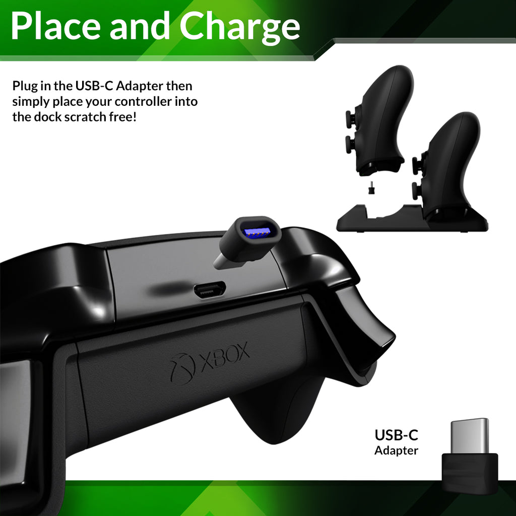 XBOX Series X/S Controller Charging Dock - Duo-Charge Dock - Orzly