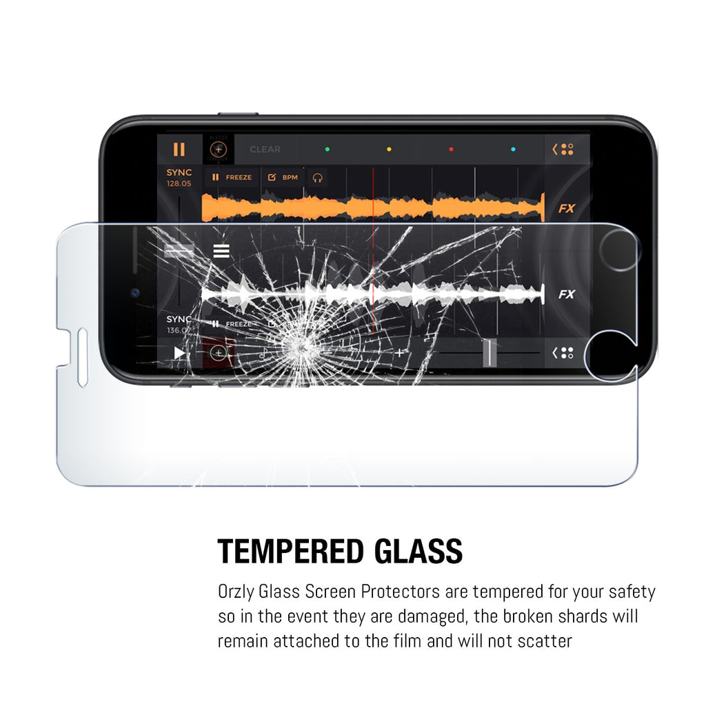 Orzly Tempered Glass Screen Protector  - TWIN PACK - for iPhone 8+/ 7+ - Orzly