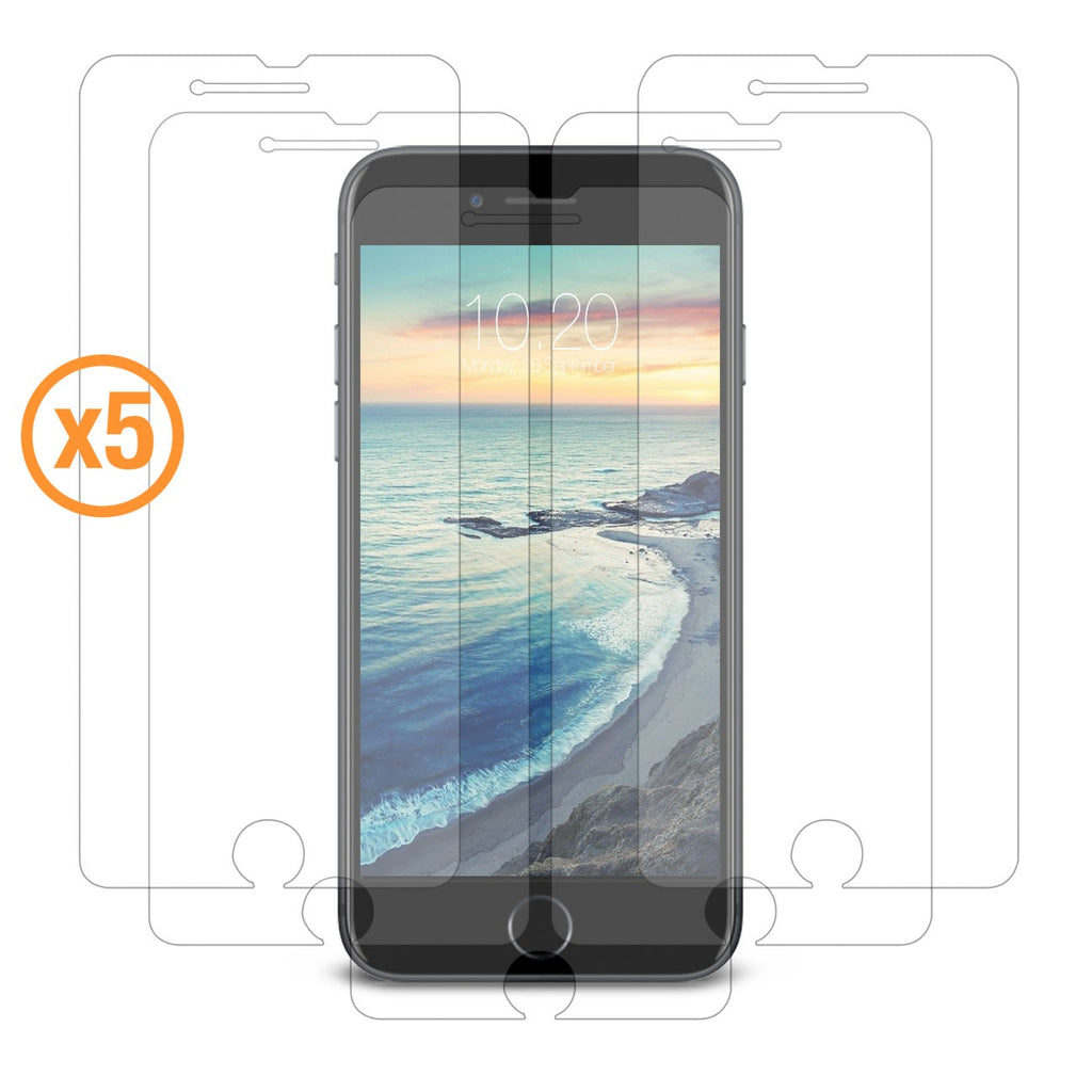 Orzly Crystal Clear 5-in-1 Screen Protector Pack for iPhone 8/ 7 - Orzly
