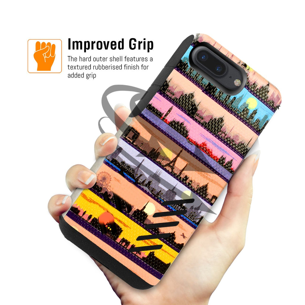 Orzly Grip Pro Art Case for iPhone 8+/ 7+ - Orzly