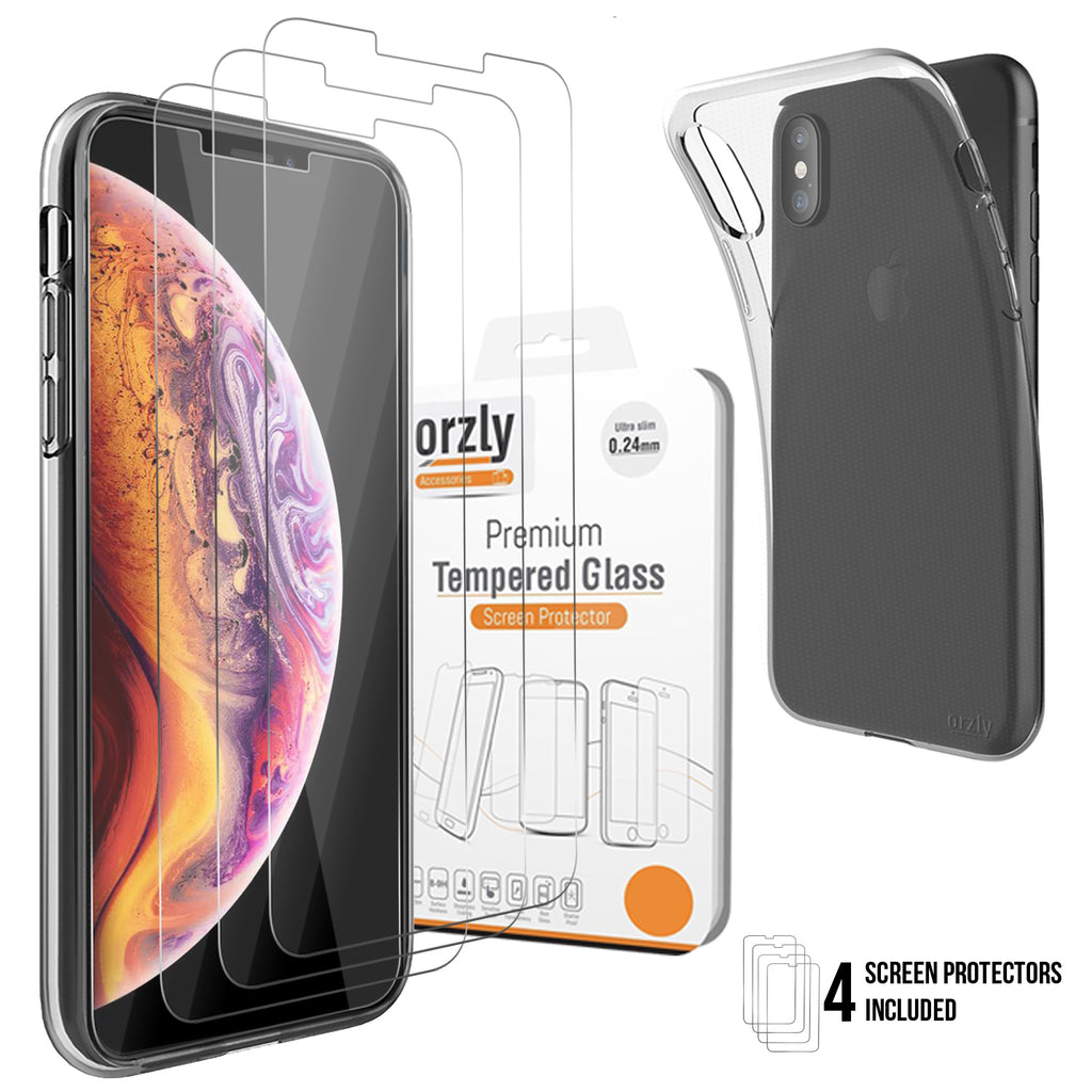 iPhone X/ Xs Screen & Case Pack - Orzly
