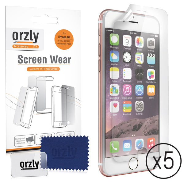 Screen Protector Pack for iPhone 6s/ 6s+/ 6/ 6+ - 5 in 1 Pack