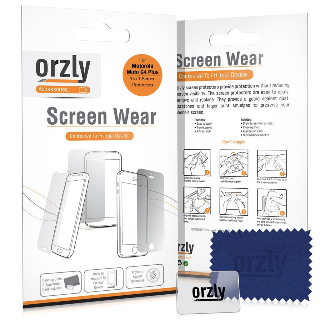 Screen Protector Pack for Motorola Moto G4/ G4 Plus - Orzly