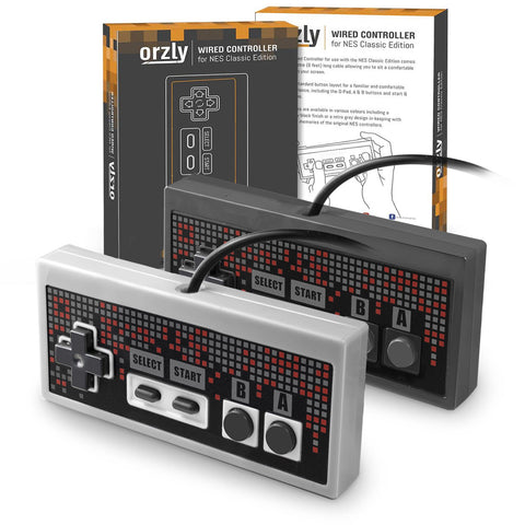 NES Classic Edition Wired Controller with 1.8 Metre Cable - Orzly