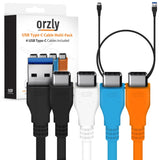 USB 3.0 Type-C to USB 1M - 4 Pack - Orzly