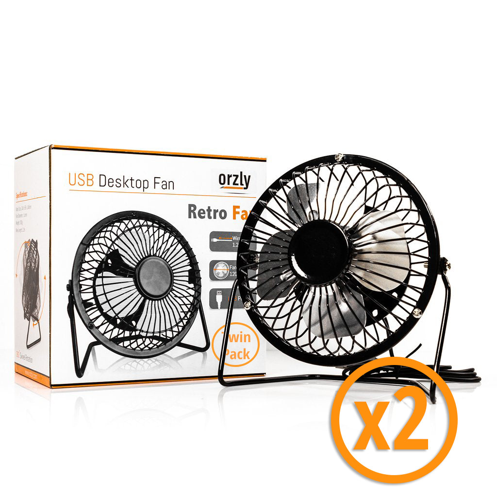 Retro USB Desktop Fan - Orzly