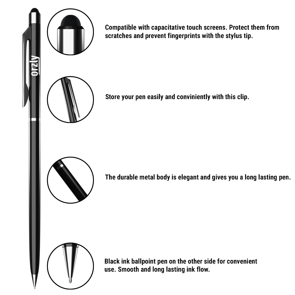 Orzly Stylus Pen - 3 Pack - Orzly