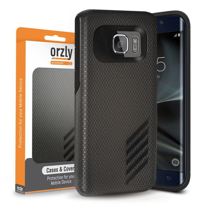 Grip-Pro BLACK Case for Samsung S7 Edge - Orzly