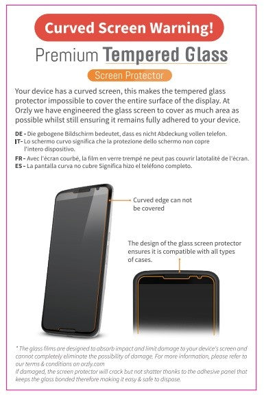 Glass Screen Protector for iPhone 6s/ 6s+/ 6/ 6+ - Orzly