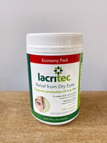 Lacritec Dry Eye Supplement - 200 Capsules