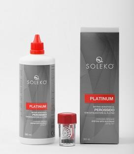 Menicon Soleko Platinum Hydrogen Peroxide Solution Value Pack (3x 360ml bottles of solution + 3 cases)