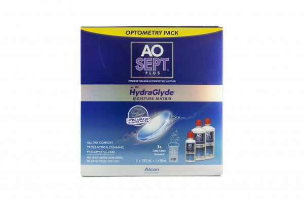 AO Sept Plus with Hydraglyde Optometry Pack