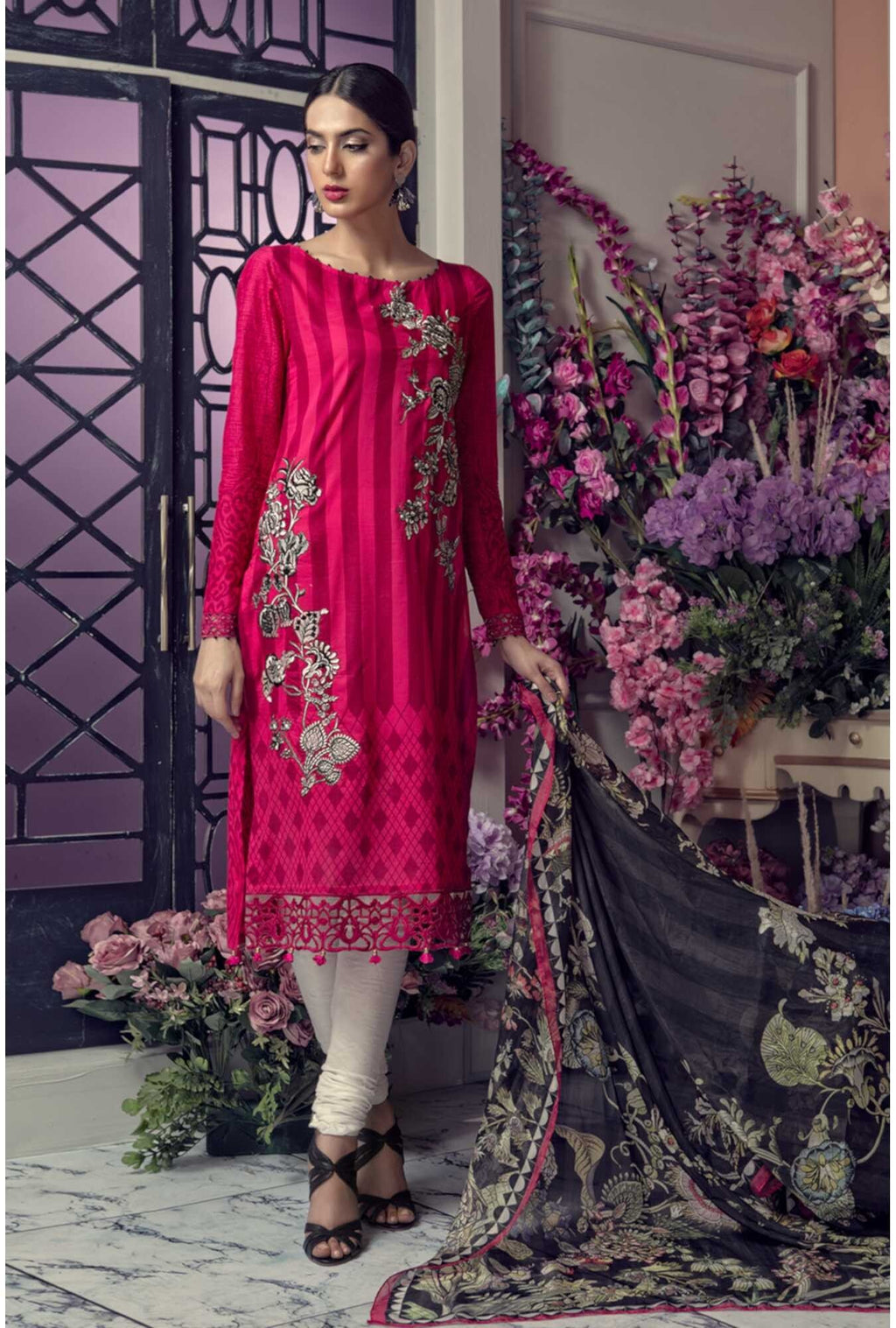 Aayra Spring Lawn 2019 by Maria B suit D-303A