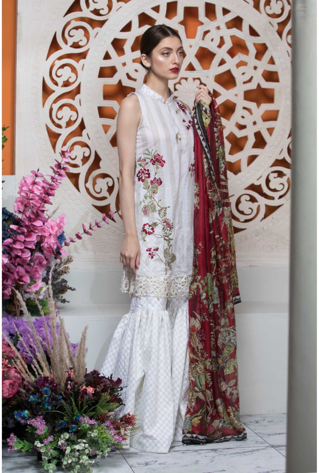 Aayra Spring Lawn 2019 by Maria B suit D-303B
