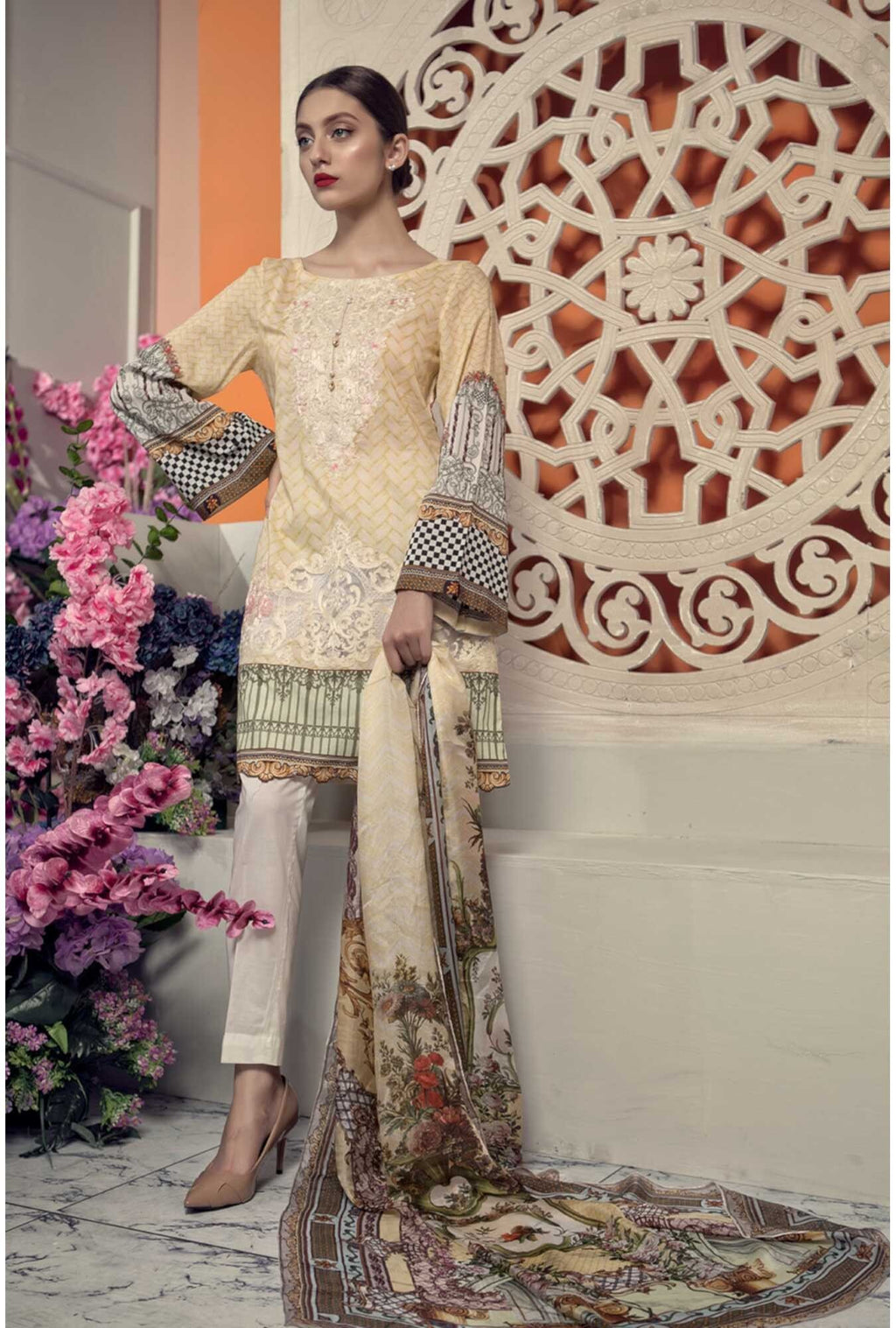 Aayra Spring Lawn 2019 by Maria B suit D-306B