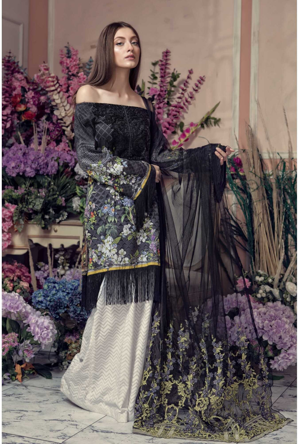 Aayra Spring Lawn 2019 by Maria B suit D-307A