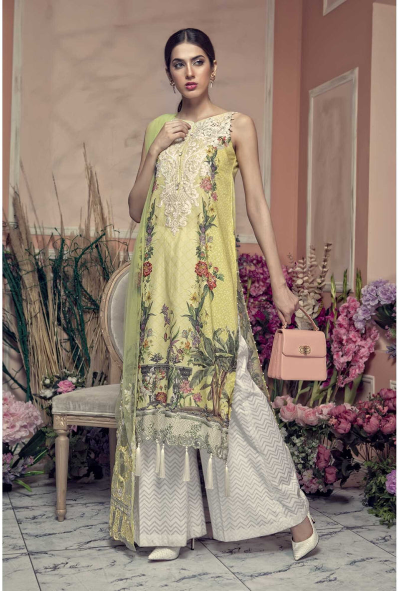 Aayra Spring Lawn 2019 by Maria B suit D-307B