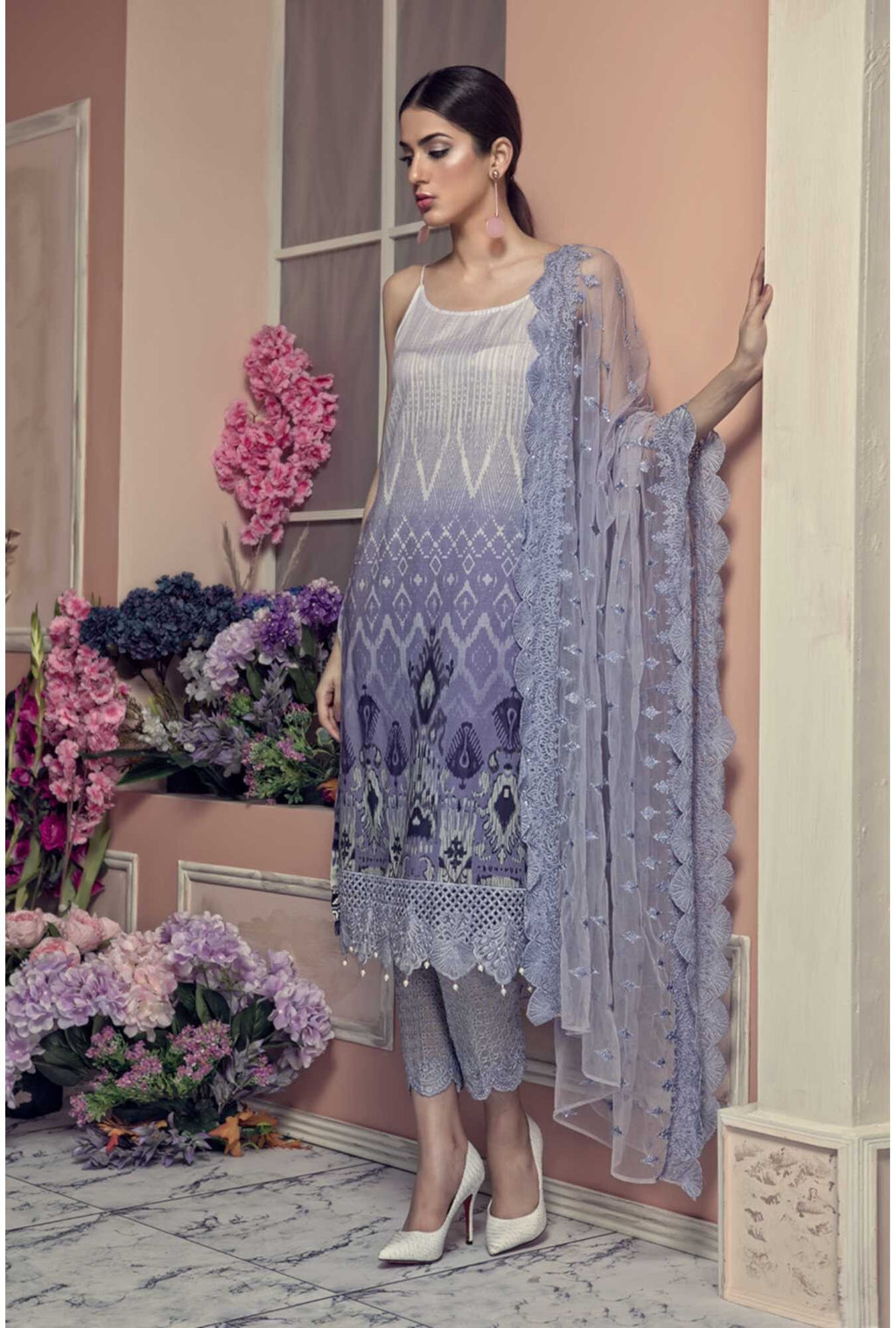 Aayra Spring Lawn 2019 by Maria B suit D-308A