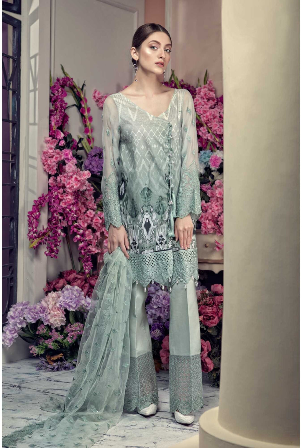 Aayra Spring Lawn 2019 by Maria B suit D-308B